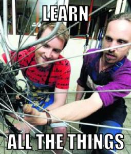 Learn all the things bike meme
