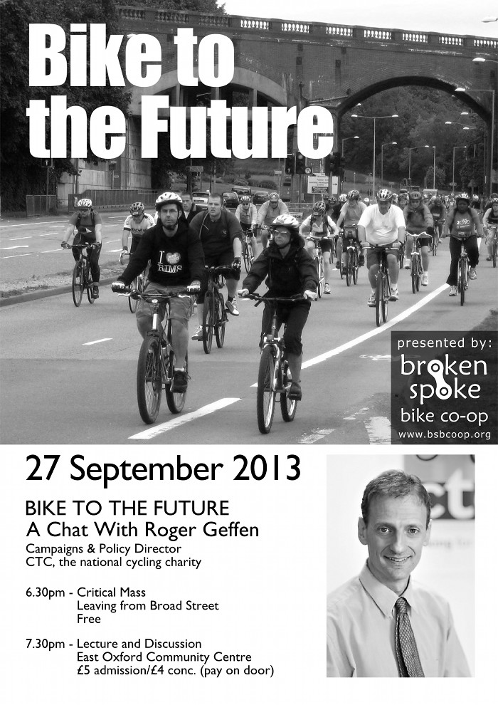 Roger Geffen, Bike to the Future