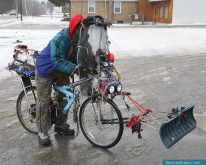 Funny bike for winter