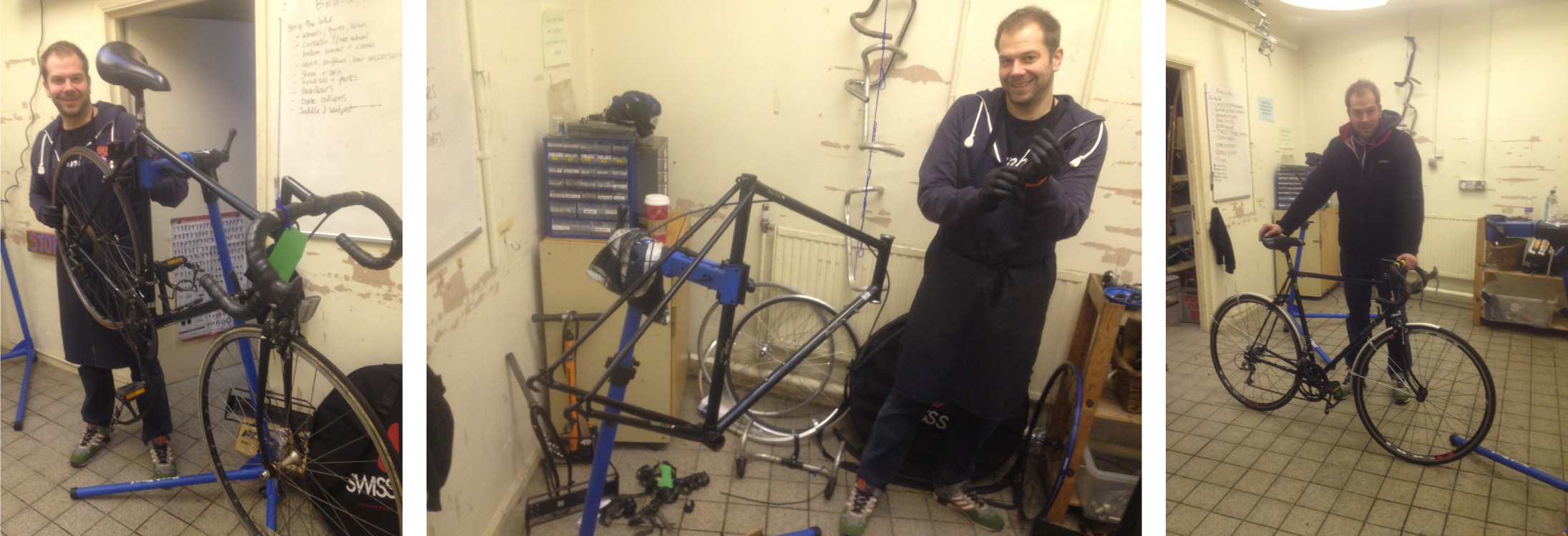 Dan build a bike