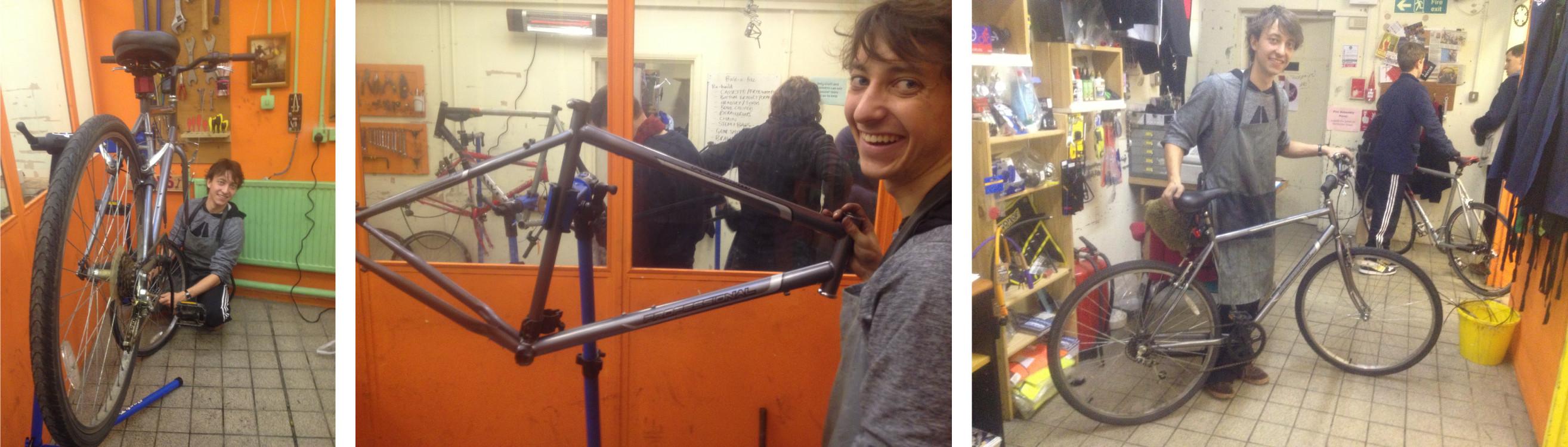 Oliver build a bike