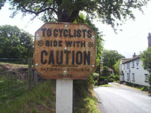 Cyclist Ride With Caution